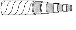 SAE 100R12 EN856 R12Multi-Spiral Rubber Hydraulic Hose
