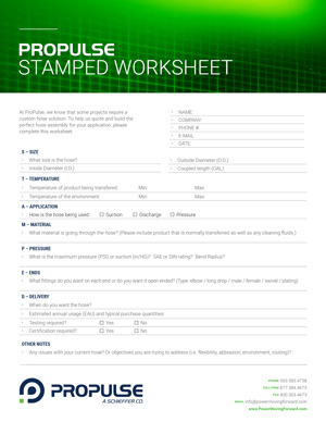 ProPulse—a Schieffer Co. Support Center | STAMPED Worksheet