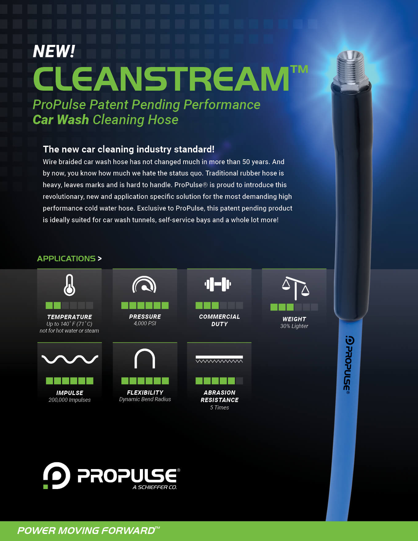 Cleanstream Performance Car Wash Cleaning Hose