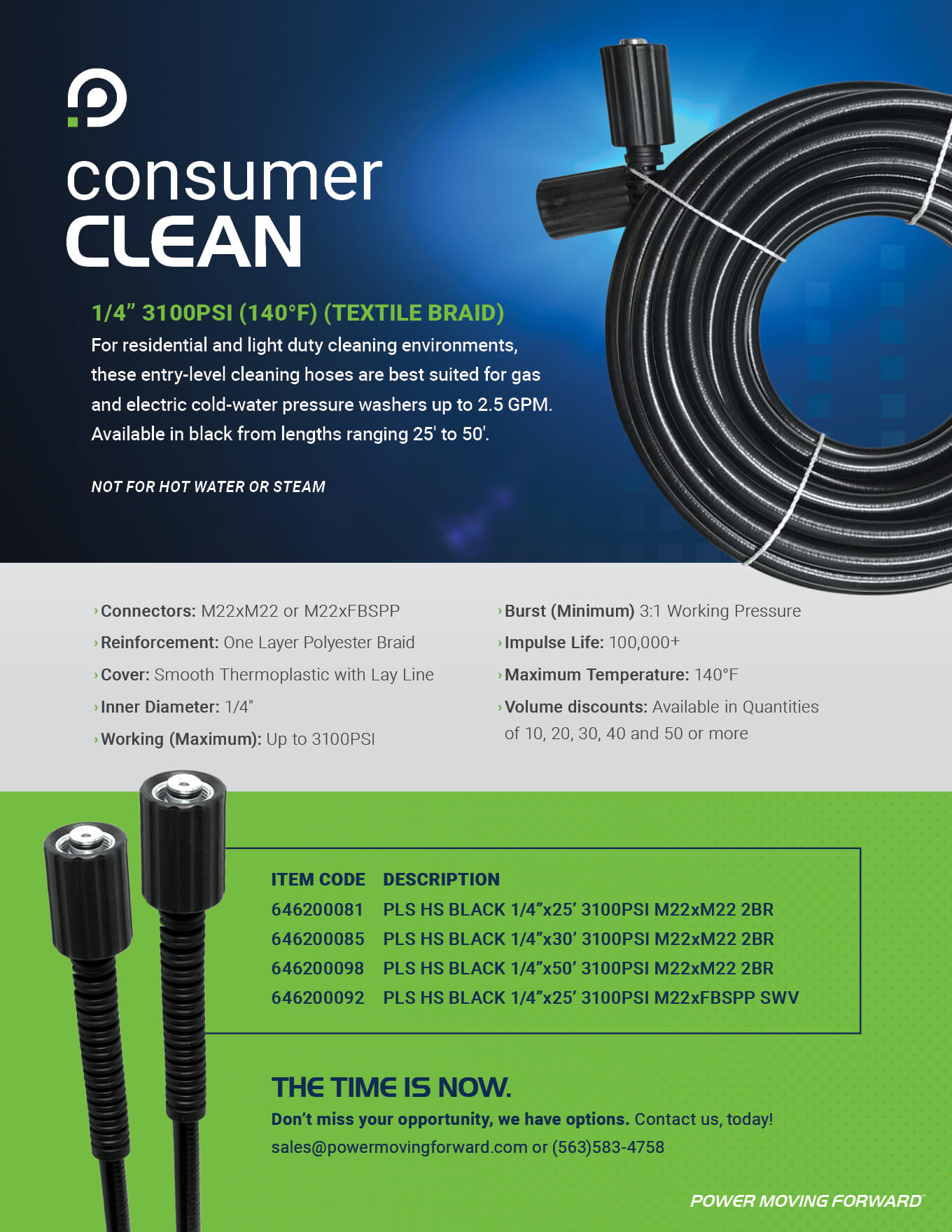 Cleaning Hose for Residential and Light Applications