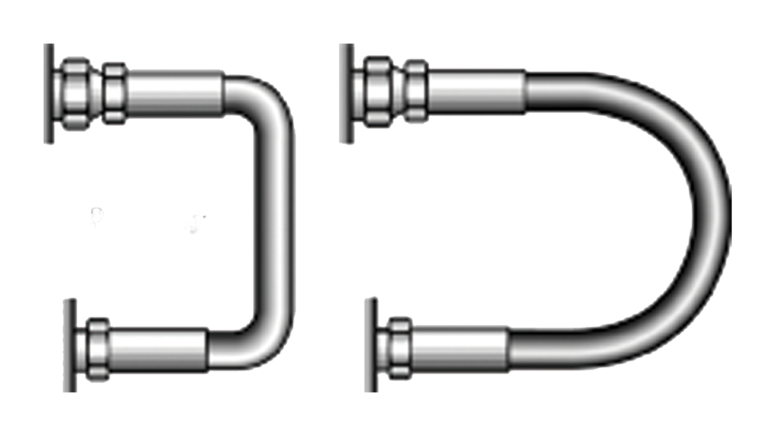 Graphic of hydraulic hose installation methods