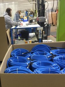 Assembly production of hose to fight COVID-19